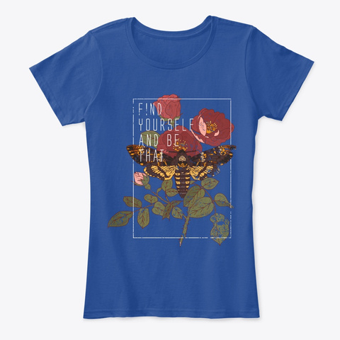 Find You'r Self Deep Royal  Women's T-Shirt Front