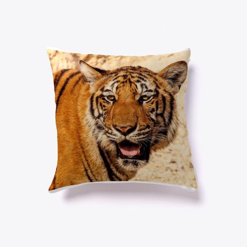 Best Throw Pillow   Tiger Print Pillow White T-Shirt Front