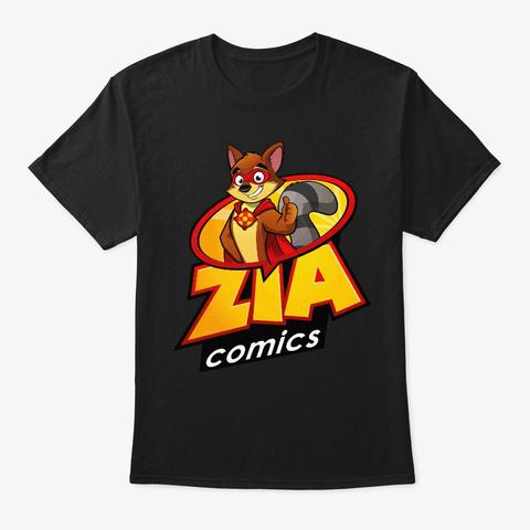 Original Zia Comics Mascot Black T-Shirt Front