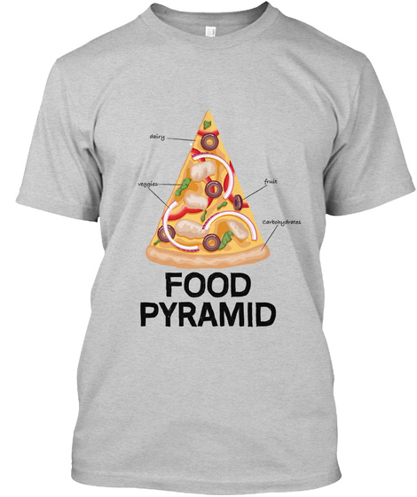 Food Pyramid Light Steel T-Shirt Front