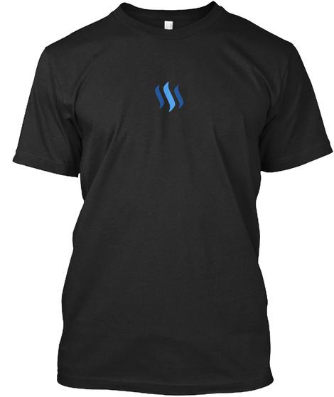 Steem Swag Vintage Black T-Shirt Front