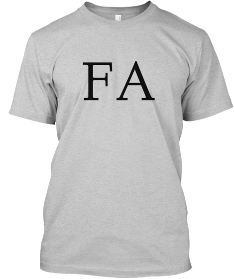 Fa Light Steel T-Shirt Front