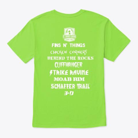 Trail Shirt  #2 Lime T-Shirt Back
