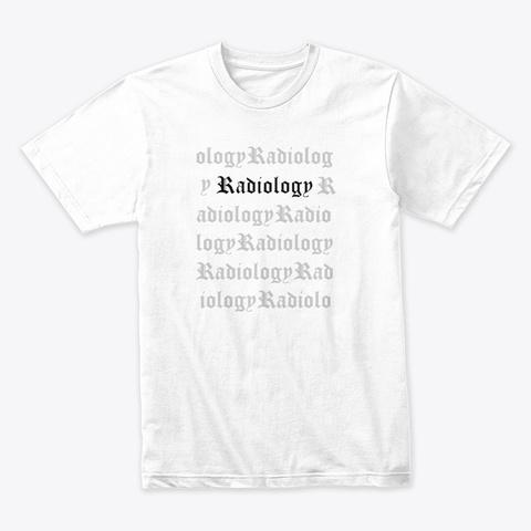 Radiology Patterns White Camiseta Front