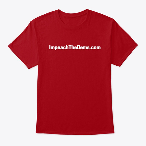 Kick Dems To The Curb Deep Red T-Shirt Front