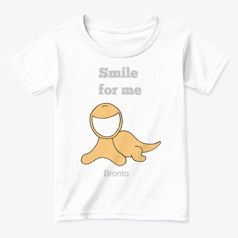 Bronto Smiles White  T-Shirt Front