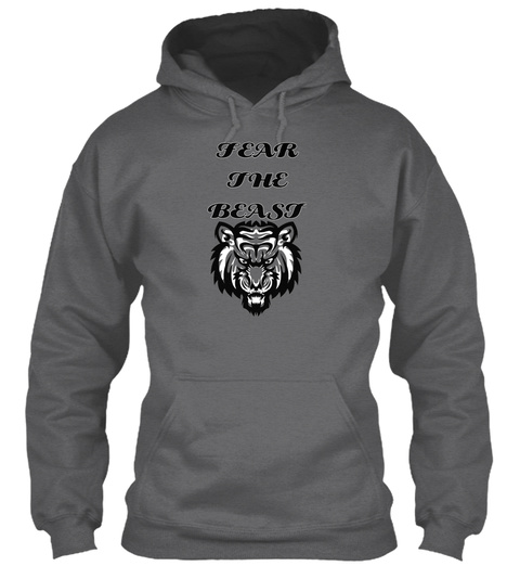 Fear The Beast Dark Heather Sweatshirt Front