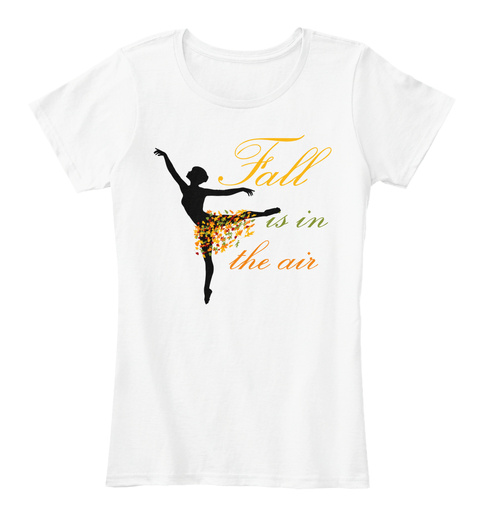 Fall Is In The Air White Women's T-Shirt Front