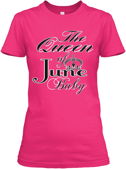 The Queen Of June Baby Heliconia T-Shirt Front