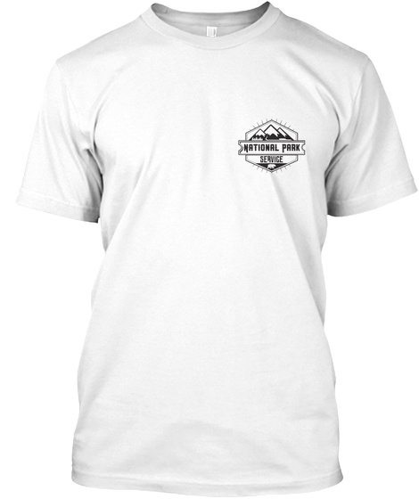 National Park Service White T-Shirt Front