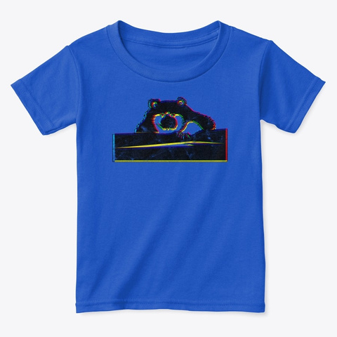 Hey There Bear 3 D Art With A Solid Fill Royal  T-Shirt Front