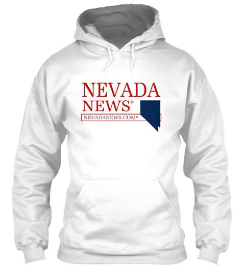 Nevada News® State T Shirt White T-Shirt Front
