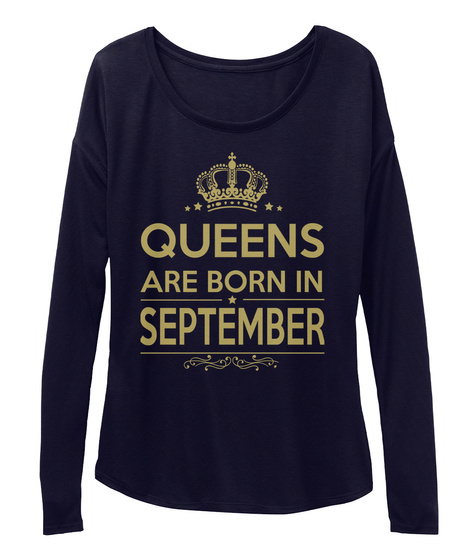 Queens Are Born In September Midnight T-Shirt Front