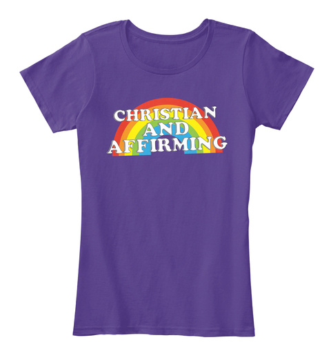 Christian And Affirming (Women's) Purple T-Shirt Front