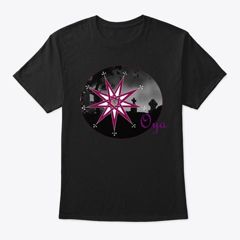 Oya Black T-Shirt Front