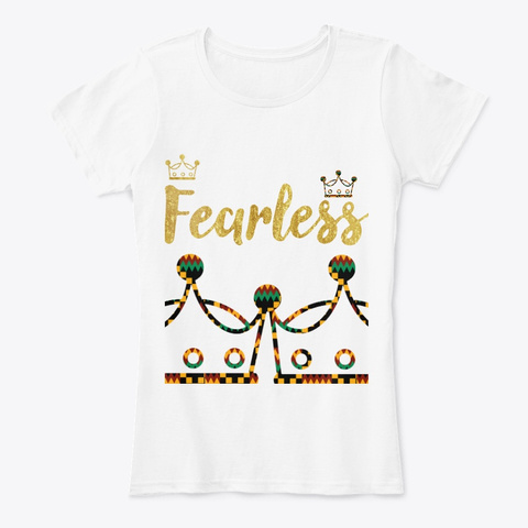 Fearless Safari Crowns White T-Shirt Front