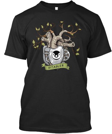 Iptables Linux Picture (Eu) Black T-Shirt Front