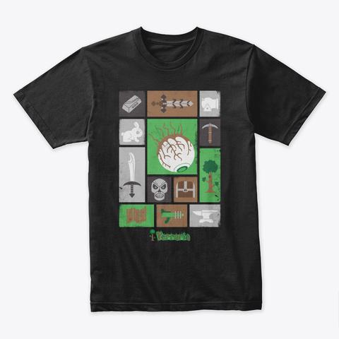 Icon Puzzle – Terraria Merchandise Black Kaos Front