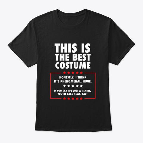 Trump Halloween Costume Shirt Black T-Shirt Front
