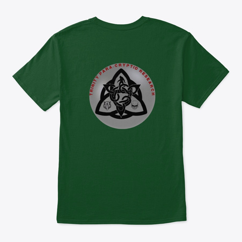 Trinity Paracryptid Research Deep Forest T-Shirt Back
