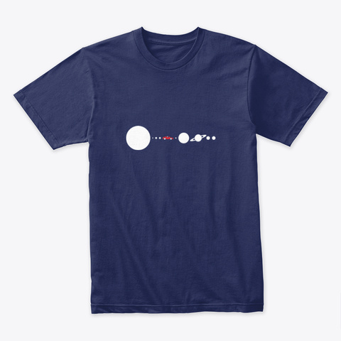 Solar System Updated 🚀 #Sfsf Midnight Navy T-Shirt Front