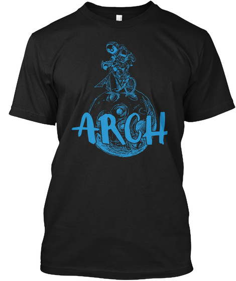 Arch Black T-Shirt Front