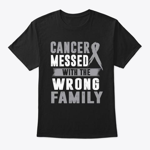 Brain Cancer Awareness Shirt Black T-Shirt Front