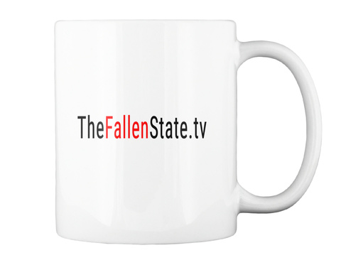 Thefallenstate.Tv White T-Shirt Back