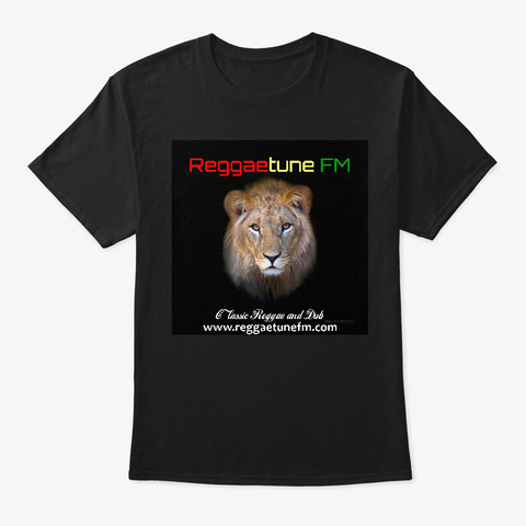 Reggaetune Fm Tee Black T-Shirt Front