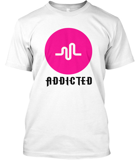 Addicted White T-Shirt Front