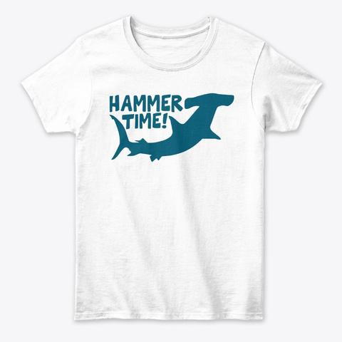 Hammer Time Hammerhead Shark Tee White T-Shirt Front