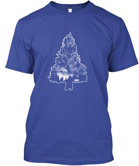Christmas Wolf Deep Royal T-Shirt Front