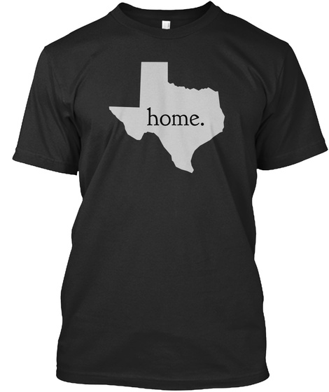 Home. Black T-Shirt Front