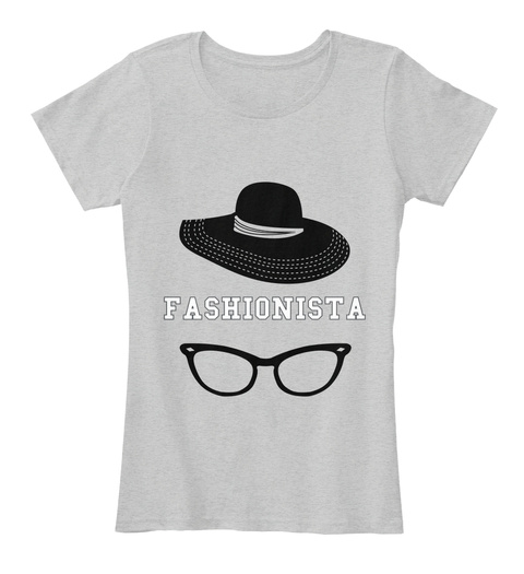 Fashionista Light Heather Grey T-Shirt Front