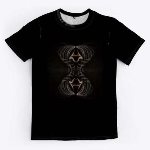Abstract Art Print Design Black T-Shirt Front