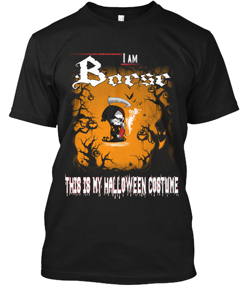 Boese Halloween Costume Black T-Shirt Front