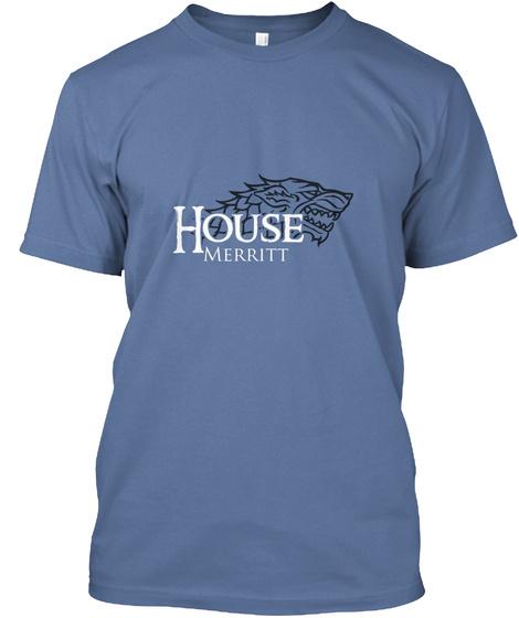 Merritt Family House   Wolf Denim Blue T-Shirt Front