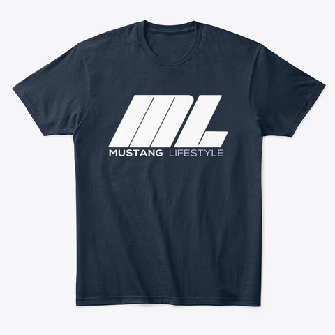 Mustang Lifestyle T Shirt New Navy T-Shirt Front