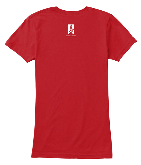 B Red Women's T-Shirt Back