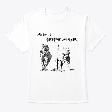 Pitbull Smile White T-Shirt Front