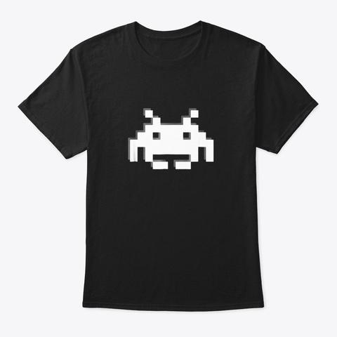 Gamersgaming Space Alien Invader Tshirt Black T-Shirt Front