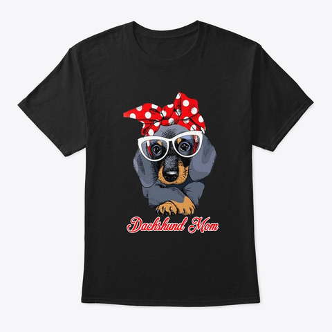 Dachshund Mom Black T-Shirt Front