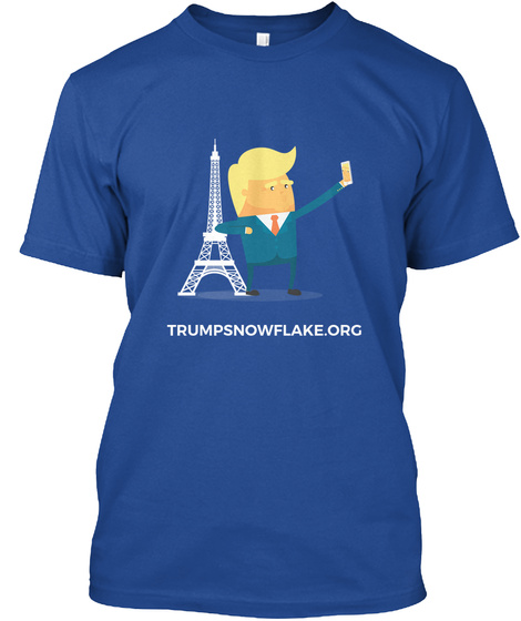 Trump In Paris  Deep Royal T-Shirt Front