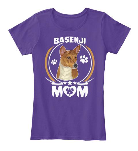 Basenji Mom Purple T-Shirt Front