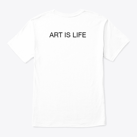 Sex Is Art White T-Shirt Back