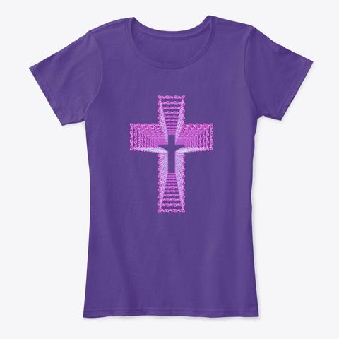 He Is Risen Purple T-Shirt Front