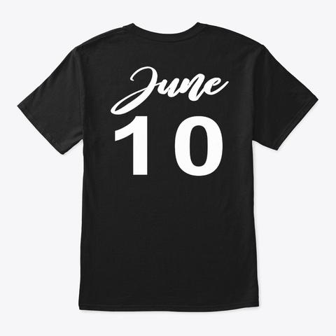 June 10   Gemini Black T-Shirt Back