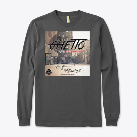 Ghetto By Babiboi Charcoal T-Shirt Front