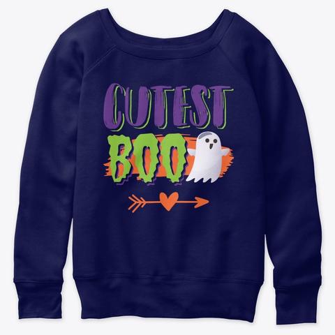 Cutest Boo Halloween Navy  T-Shirt Front