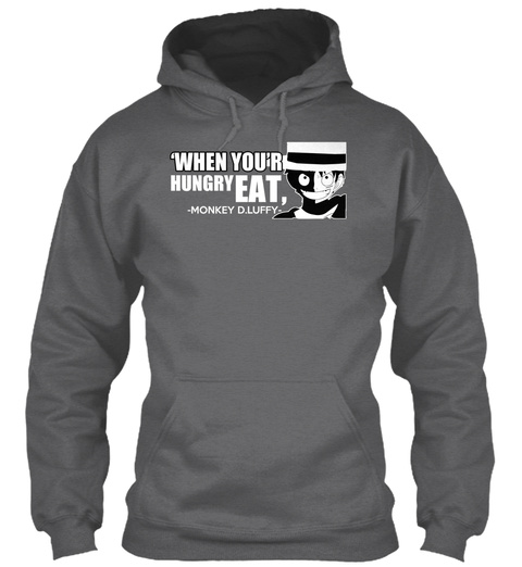 Hungry Eat Dark Heather T-Shirt Front